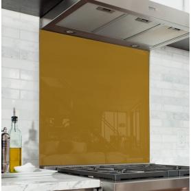 Fond de hotte uni jaune moutarde