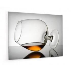 Fond de hotte ave verre de cognac à l'horizontal