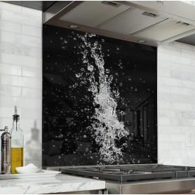 Fond de hotte noir éclaboussure d'eau