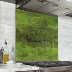 "Fond de hotte de cuisine ""Textures mur vert"""