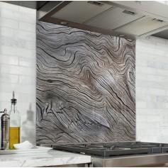 Fond de hotte effet texture arbre