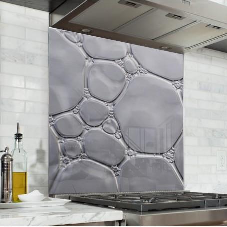 Fond de hotte gris clair avec bulles