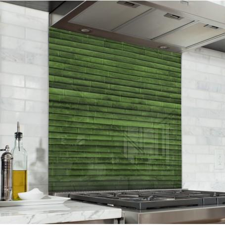 Fond de hotte effet bambou vert tropical