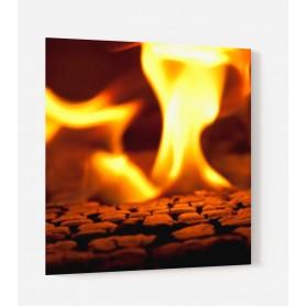 Fond de hotte flammes orange et jaune