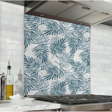 Fond de hotte avec feuilles de palmier, effet aquarelle