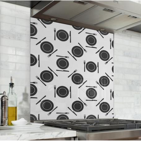 Fond de hotte avec motifs couverts de cuisine