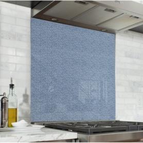 Fond de hotte avec motif vagues japonaises bleu clair