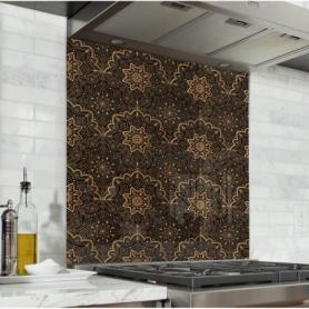 fond de hotte autocollant imprim s motifs d coratifs verre alu cr dence cuisine d co. Black Bedroom Furniture Sets. Home Design Ideas