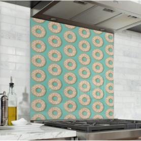 Fond de hotte azur avec motif donuts
