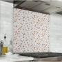 Fond de hotte blanc avec motif cannelle
