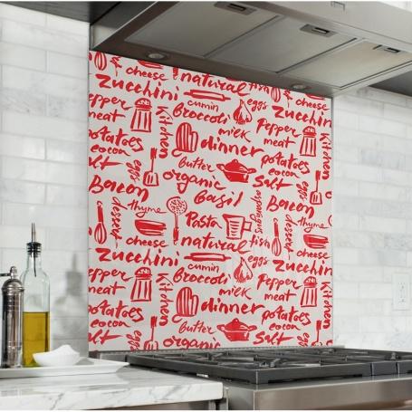 Fond de hotte écriture au ketchup rouge