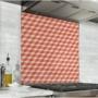 Fond de hotte cubes rouge et marron clair