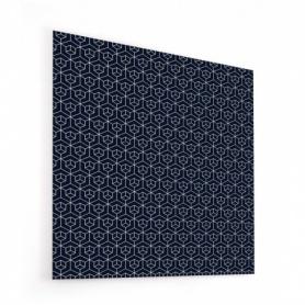 Fond de hotte cubes imbriqués sur fond bleu marine
