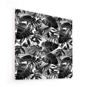 Fond de hotte feuillage à l'encre de chine, noir et blanc