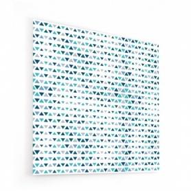 Fond de hotte damier de triangles bleu ciel et bleu marine