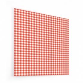 Fond de hotte imprimé vichy rouge et blanc
