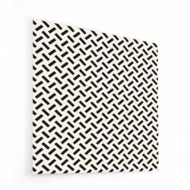 Fond de hotte effet géométrie, traits noir et blanc