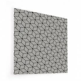 Fond de hotte taupe avec motif illusion de cubes