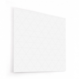 Fond de hotte triangles sur carrelage blanc