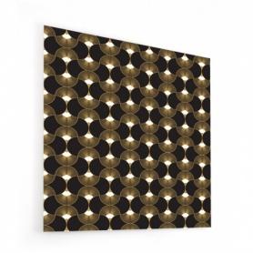 Fond de hotte avec motif éventails dorés et noirs