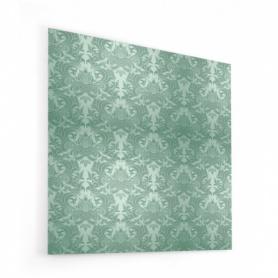 Fond de hotte, effet tapisserie vert foncé