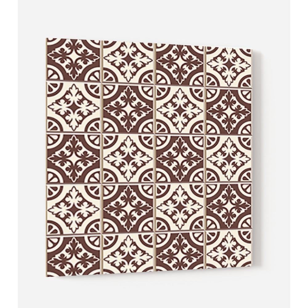fond de hotte carreaux de ciment marron cr me credence cuisine deco. Black Bedroom Furniture Sets. Home Design Ideas