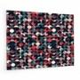 Fond de hotte à motif ronds pop, rose et bleu marine