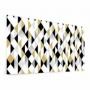 Fond de hotte style scandinave, triangles noir, blanc, ocre
