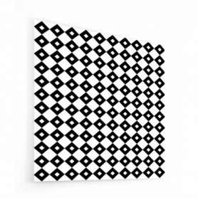 Fond de hotte effet damiers noir et blanc