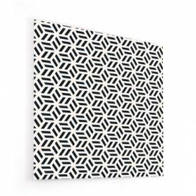 Fond de hotte effet géométrie japonaise noire et blanche