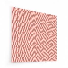 Fond de hotte effet zigzag rouge et beige