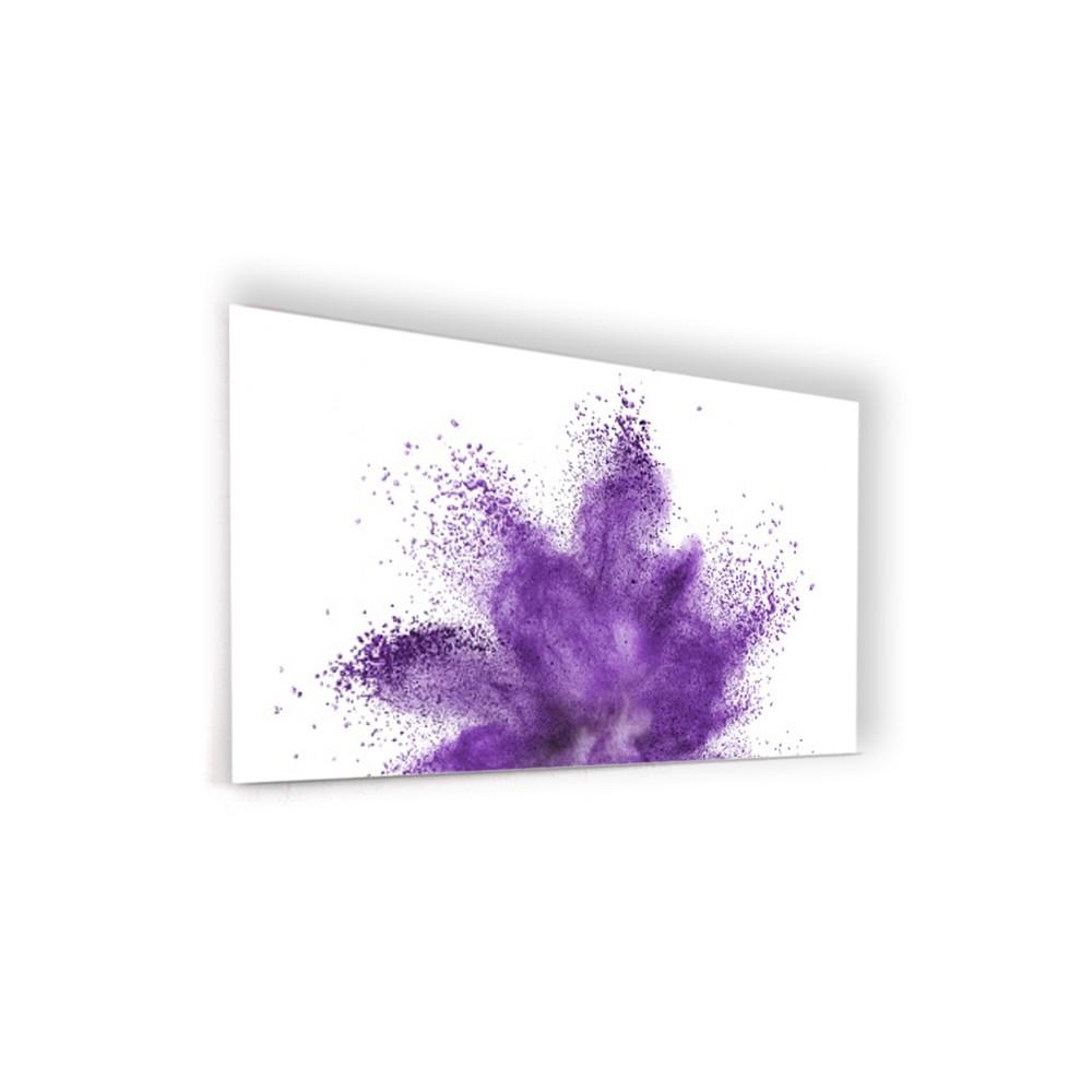 Fond de hotte poudre violette - Verre et alu - Credence Cuisine Deco