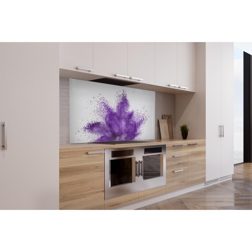 Acheter fond de hotte de cuisine explosion violette | Verre de ...