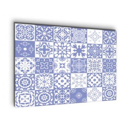 Crédence de cuisine carreaux mosaïque bleu violet
