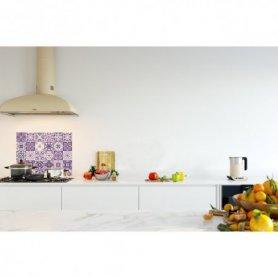 Crédence de cuisine carreaux mosaïque ultra violet