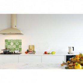 Credence de cuisine carreaux mosaïque vert