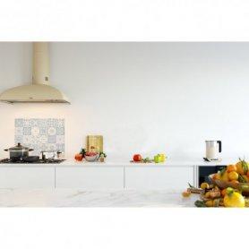 Credence de cuisine carreaux mosaïque bleu matelot