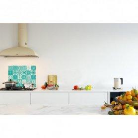 Crédence de cuisine carreaux mosaïque turquoise