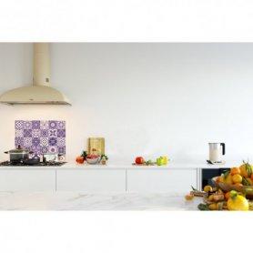 Crédence de cuisine carreaux mosaïque améthyste