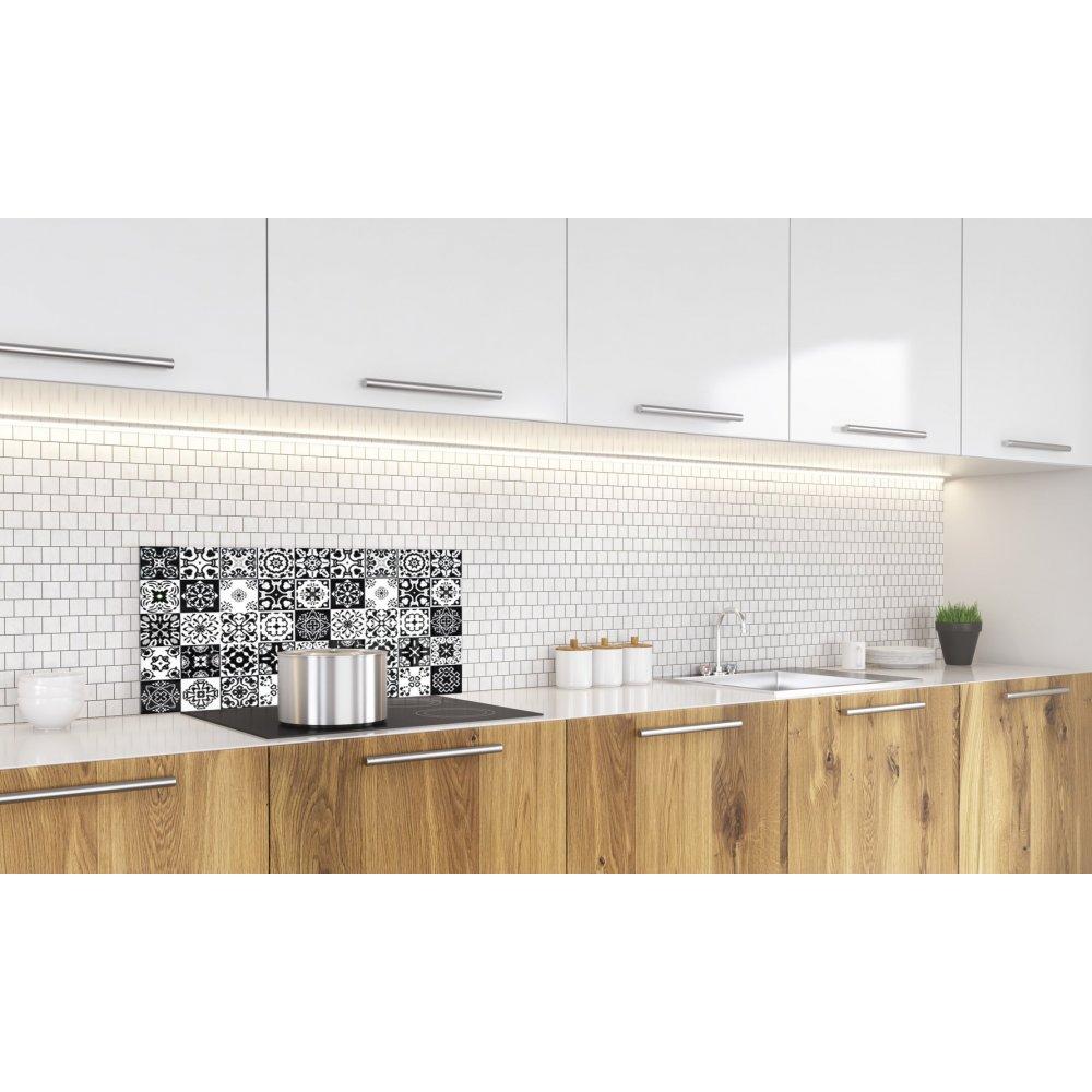 Mosaique Pour Credence Cuisine crédence de cuisine carreaux mosaïque noir intense- verre et aluminium