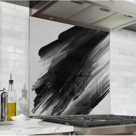 Fond de hotte blanc avec traces de peinture noire