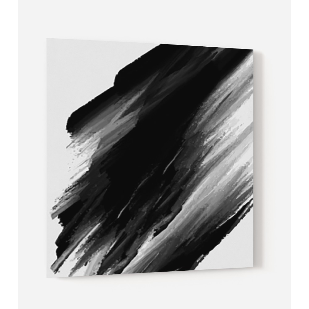 fond de hotte traces pinceau noir verre alu credence. Black Bedroom Furniture Sets. Home Design Ideas