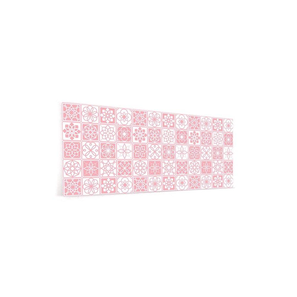 cr dence de cuisine carreaux de ciment rose et blanc verre et alu. Black Bedroom Furniture Sets. Home Design Ideas