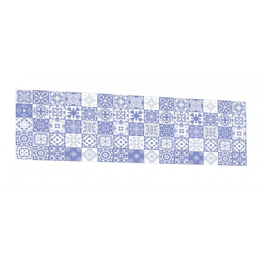 Cr dence de cuisine carreaux mosa que bleu violet verre aluminium - Credence cuisine mosaique ...