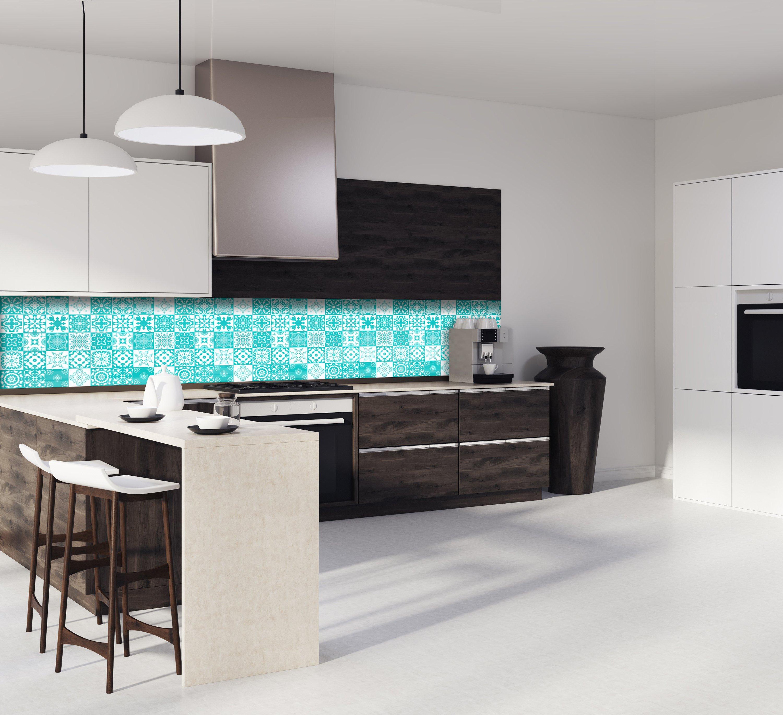 """Crédence de cuisine """"Carreaux Mosaïque Turquoise"""""""