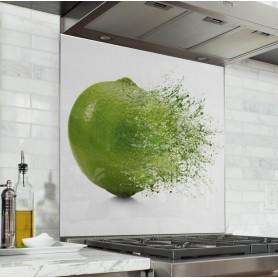 """Fond de hotte de cuisine """"Explosion de citron vert"""""""