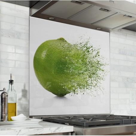 Fond de hotte blanc avec explosion de citron vert