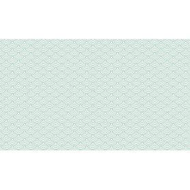Fond de hotte Vagues Japonaises Vertes motif scandinave