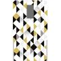 Fond de hotte motif triangle noir or blanc scandinave