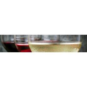 """Frise, Crédence """"Verre de vin blanc, rosé et rouge"""""""